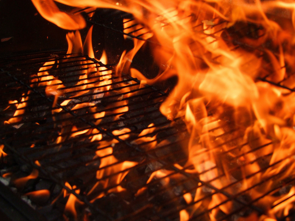flaming-barbeque